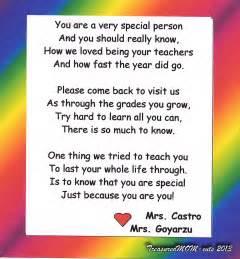 Kindergarten Graduation Poems From Teacher