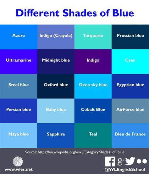 shades  blue colors blue shades colors blue color schemes  blue colors