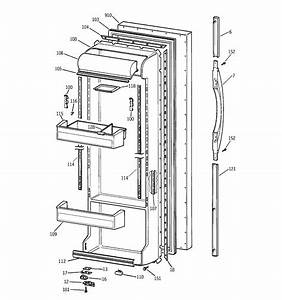 Fresh Food Door Diagram  U0026 Parts List For Model Tfx25jrbbww