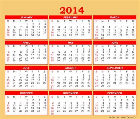 2014 Calendar 0c1