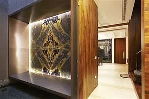Feature wall design: Using stones such as marble and
