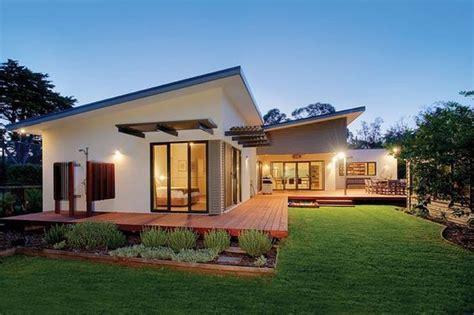 skillion roof entertaining area  living area energy efficient house design solar house