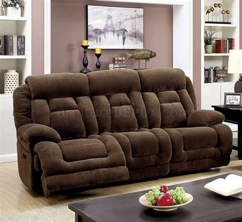 Fabric Loveseats by Grenville Power Reclining Sofa Cm6010pm In Brown Fabric W