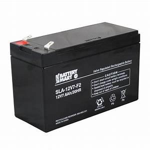 Batterie 12 Volts : np7 12 12 volt 7 6 ah rechargeable sealed lead acid battery ~ Farleysfitness.com Idées de Décoration