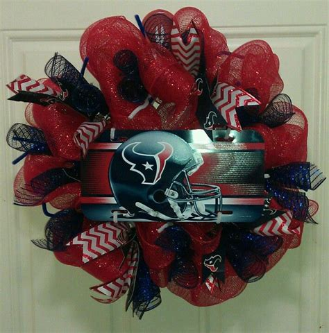 houston texans deco mesh texan wreaths houston texans