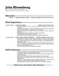 Skills For Resume Therapist by Therapy Resume The Best Letter Sle