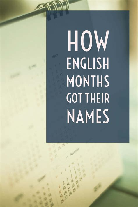 Names of the Months