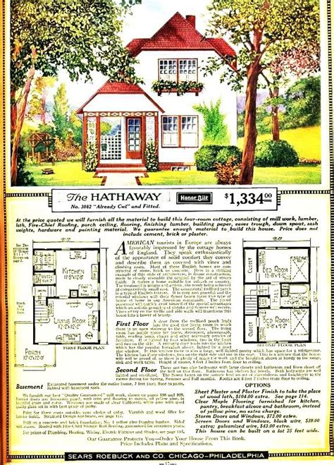 vintage sears roebuck   hathaway cottage floor