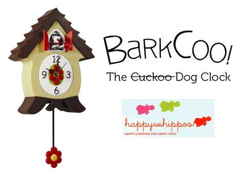 barkcoo dog cuckoo clock  happy  hippos