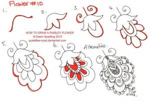 Steps to How to Draw a Paisley Flower