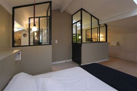 chambre avec verriere une chambre sous mansardes avec une verrière d 39 atelier