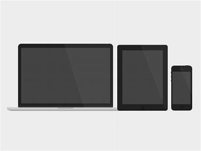 Flat Devices Psd Mockups Graphic Apple Icon