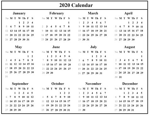 Free Download Australia 2020 Calendar Printable {PDF ...