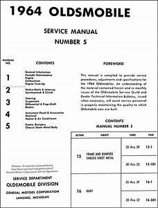 1964 Oldsmobile Shop Manual Set Super Dynamic 88 98