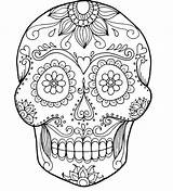 Skull Coloring Pages Bones Crossbones Pirate Printable Sugar Getcolorings Getdrawings sketch template