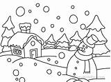 Coloring Pages Scene Winter Printable Disney Print sketch template