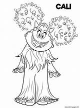 Coloring Pages Smallfoot Printable Yeti Cali Drawing Cute Print Yet Smiling Hand Fun Adults sketch template