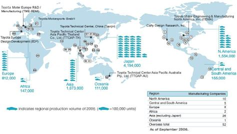 toyota worldwide toyota global operations map