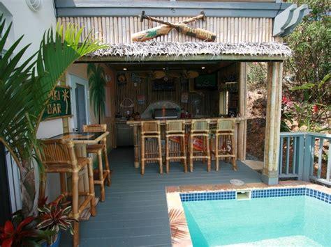 Backyard Tiki Bar by Tiki Bar And Outdoor Kitchen Backyard Paradise