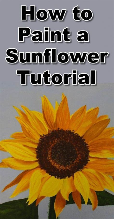 paint sunflowers  oil sunflower painting