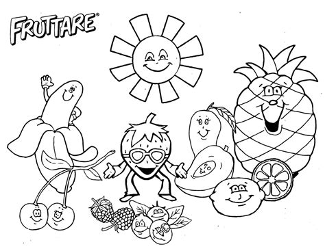fruit salad coloring pages   print