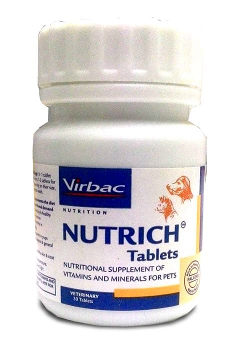 virbac nutrich vitamin  mineral supplement  tablets