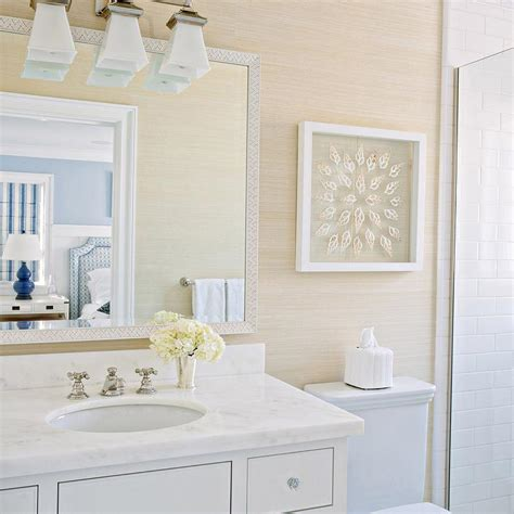 bathroom vanity lighting design ideas bathroom with grasscloth wallpaper cottage