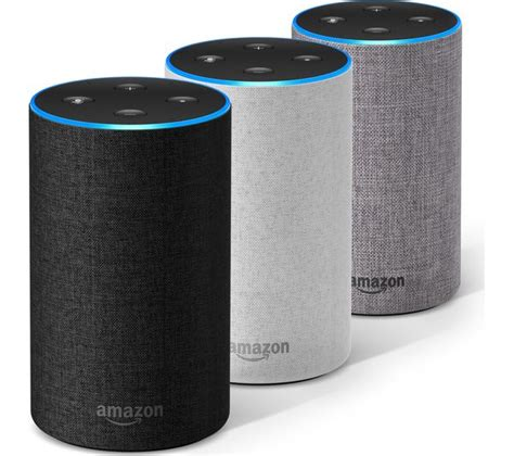 cool color images buy amazon echo grey fabric free delivery currys