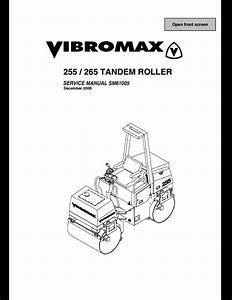 Vibromax 255  265 Tandem Roller Service Repair Workshop