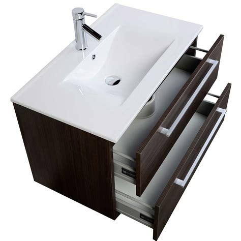 Mounted Vanity by Buy 32 Inch Wall Mount Modern Bathroom Vanity Set Grey Oak