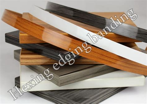 decorative metal banding for furniture high gloss woodgrain pvc edge banding for furniture from