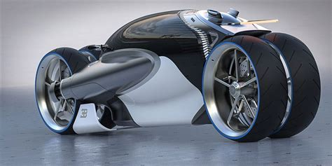 Romain Gauvin Designs Futuristic Four-wheel Bugatti 100m