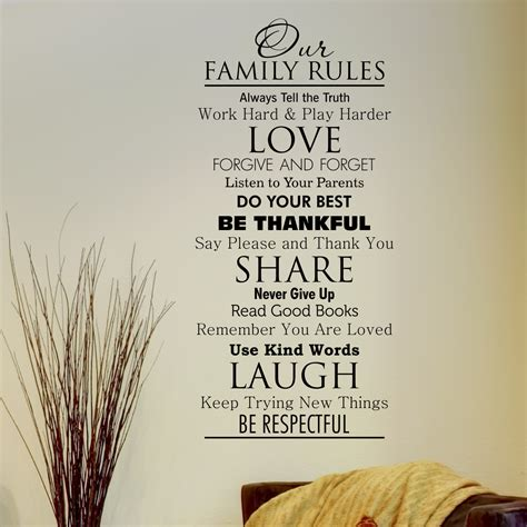 classic family rules wall quotes decal wallquotescom