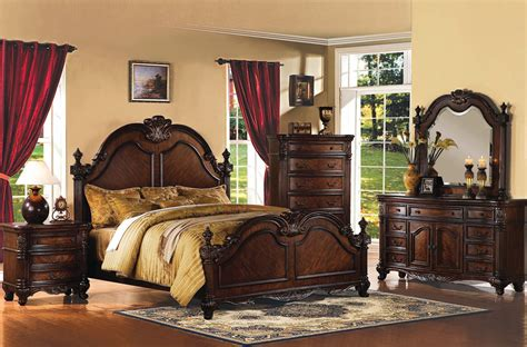 Remington Brown Cherry Wood Master Bedroom Set