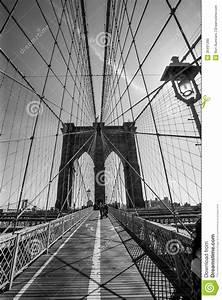 Pont De Brooklyn Noir Et Blanc Image stock