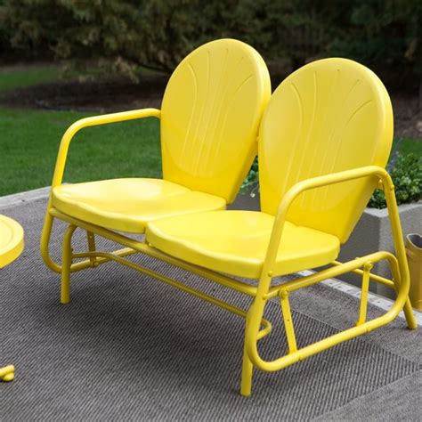 Outdoor Glider Loveseat by Coral Coast Vintage Retro Outdoor Glider Loveseat Sb Dc