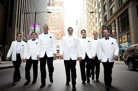 Groomsmen. White Tuxedo Jacket.