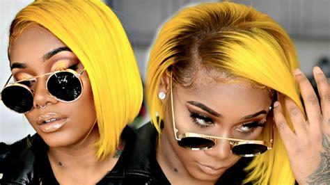 How To Slay Yellow Hair On Dark Skin Woc Yellow Bob