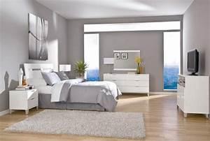 Schlafzimmer Weiß Grau : moderne schlafzimmer und wesentliche elemente in der einrichtung ~ Frokenaadalensverden.com Haus und Dekorationen