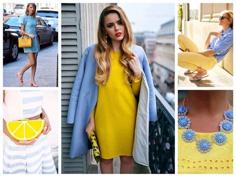 Желтый цвет в одежде и его сочетания