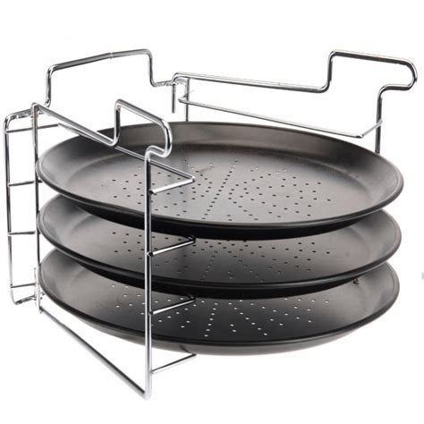 tier pizza tower baking set serving plate cm tray oven