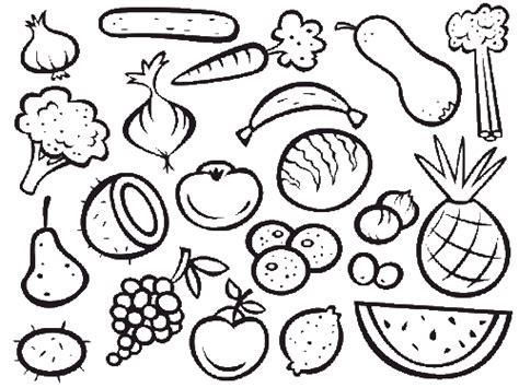 Kostenlose Malvorlage Obst Und Gemüse