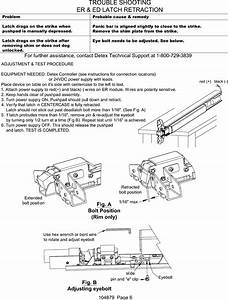 Detex R Electrical Instructions For Electric Dogging