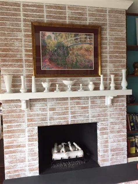 fireplace whitewash project hometalk