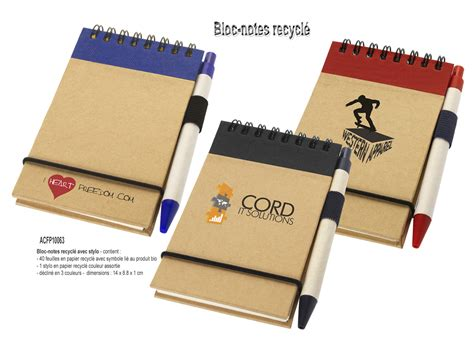 bloc note bureau articles de bureau bloc notes objets promotionnels aic