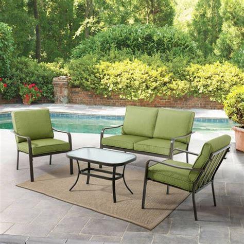 mainstays stanton cushioned 4 patio conversation set