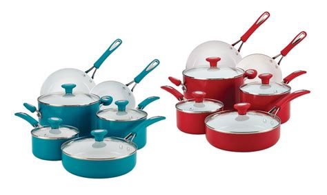 silverstone  piece cookware sets groupon