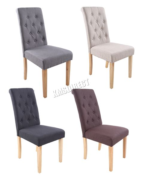 chaise dossier haut design foxhunter linen fabric dining chairs scroll high back office living room dcf02 ebay