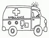 Coloring Pages Ambulance Transportation Sheets Clip Getcoloringpages Printable sketch template