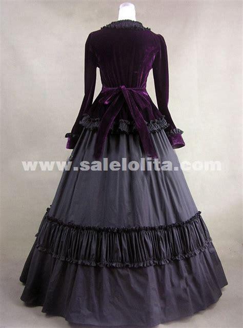elegant black long sleeve vintage medieval gothic
